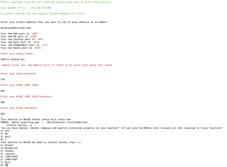 DDKits Joomla Installation